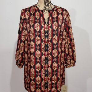 Jones New York Aztec blouse